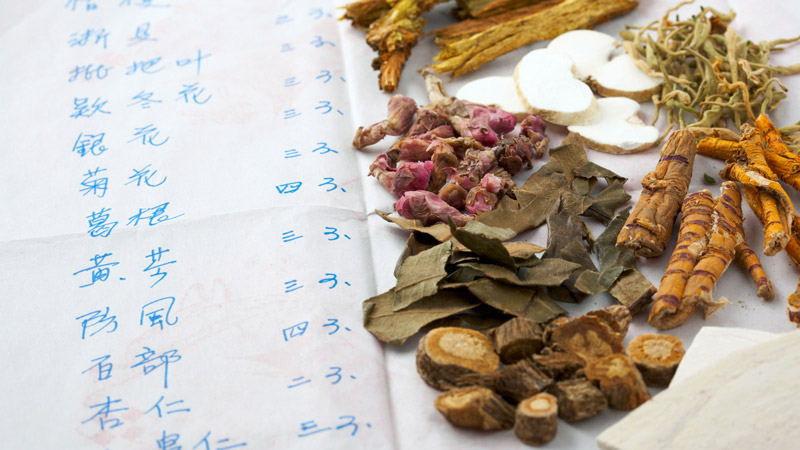 Recipe and ingredients for Chinese herbal medicine