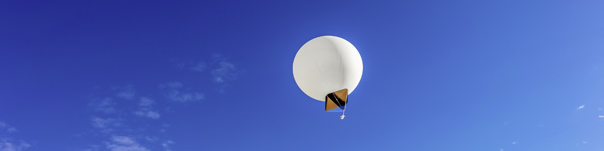 Meteorological balloon in the sky