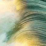 Close up of a wave, Huntington beach, USA.