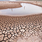 Landscape of drought land.