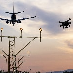 Drone comes within metres of hitting a passenger aircraft at the airport of Barcelona, Spain.