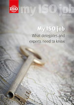 Page de couverture: My ISO job - What delegates and experts need to know