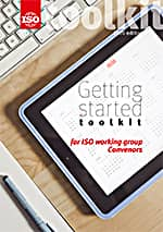 Cover page: Getting started toolkit for ISO working group Convenors