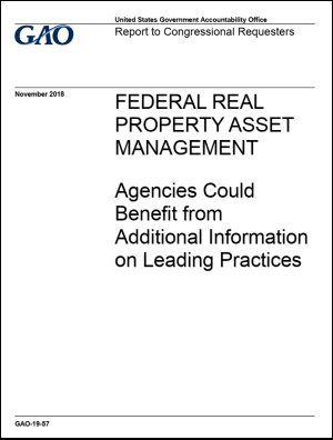 US GAO releases report on Federal Real Property Asset Management